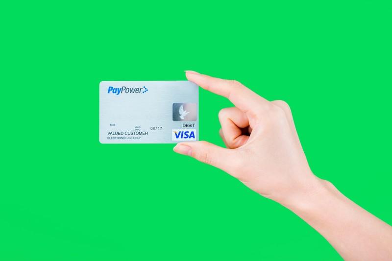 クレジットカードの画像(グリーンバック)