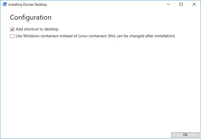 Docker Desktop インストーラーの画像