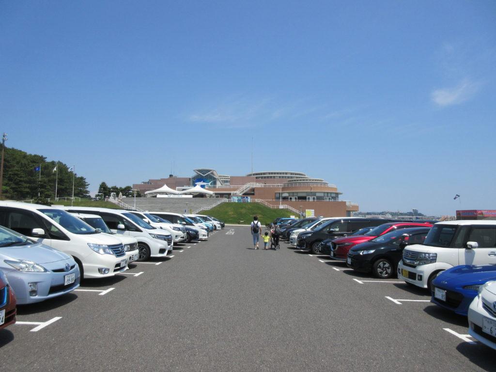アクアワールド茨城県大洗水族館の駐車場の画像
