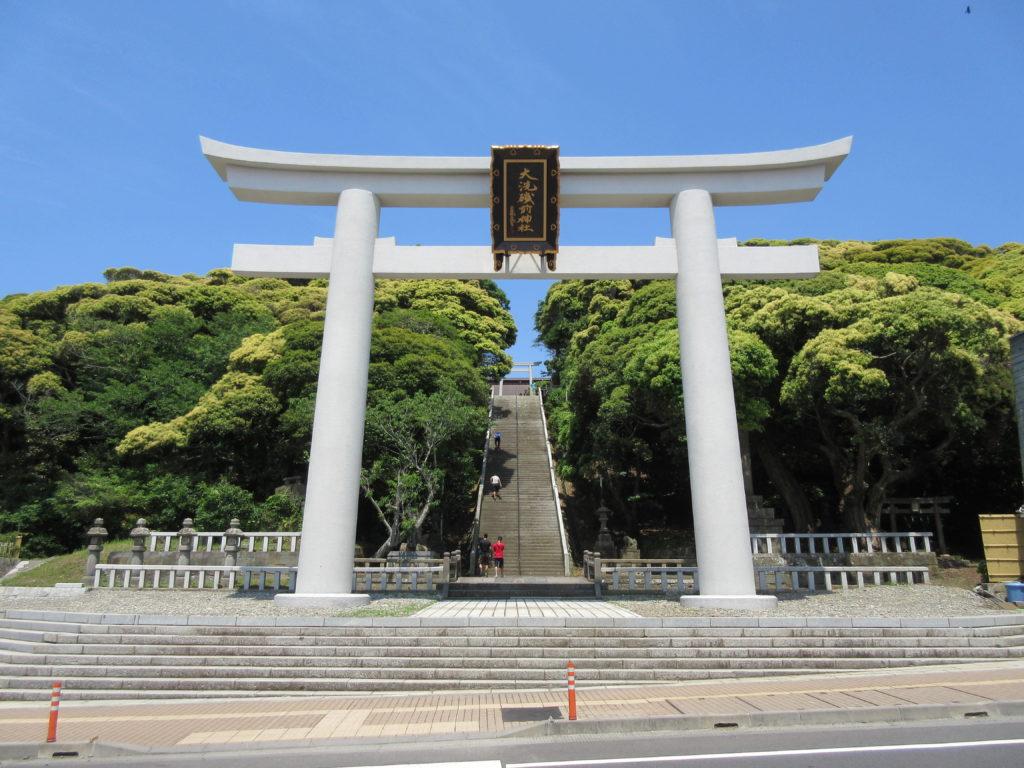 大洗磯前神社の鳥居の画像